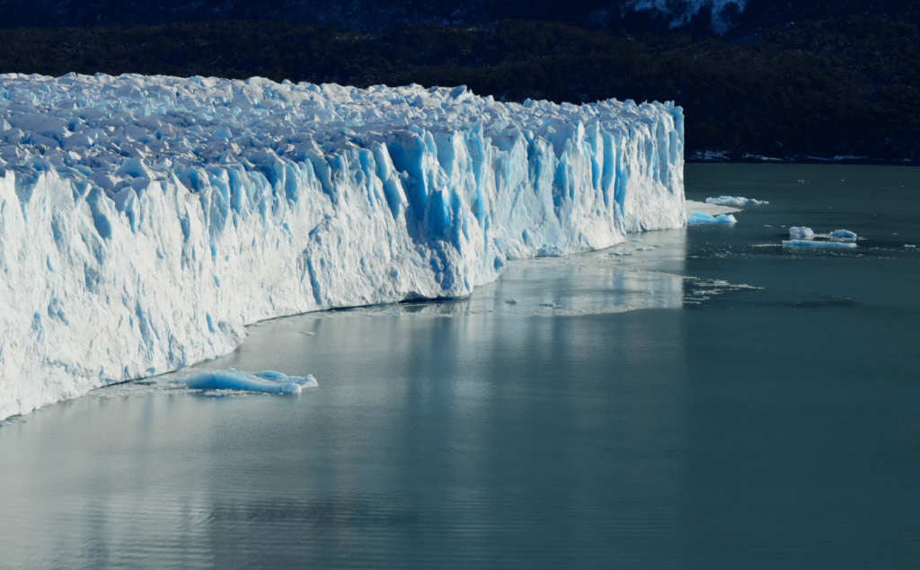 Melting sea ice.